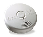 Kidde P3010L Smoke Detector, 10-Year Worry-Free DC Sealed Lithium Battery Powered for Living Area w/Hush Button