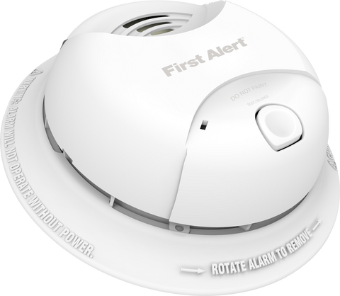 brk sa350b first alert smoke alarm 9v 10 year lithium battery powered w silence button