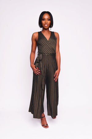 STRIPE WIDE LEGGED JUMPSUIT