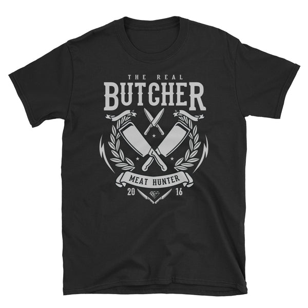 The Real Butcher Short-Sleeve Unisex T-Shirt - Dynamic Clothing Box