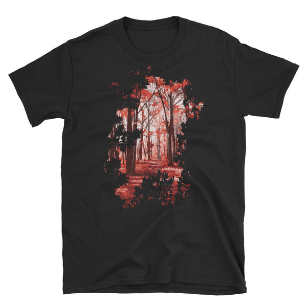 Red Forest Short-Sleeve Unisex T-Shirt - Dynamic Clothing Box