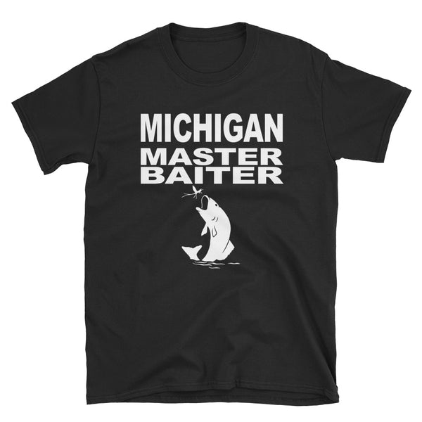 Michigan Master Baiter (WHITE) Short-Sleeve Unisex T-Shirt - Dynamic Clothing Box