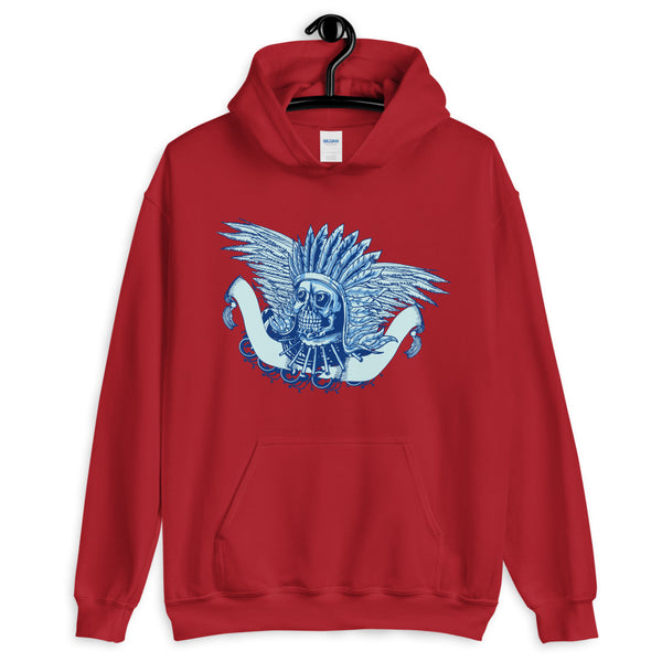 Indian Chief Skull Unisex Hoodie - Dynamic Clothing Box