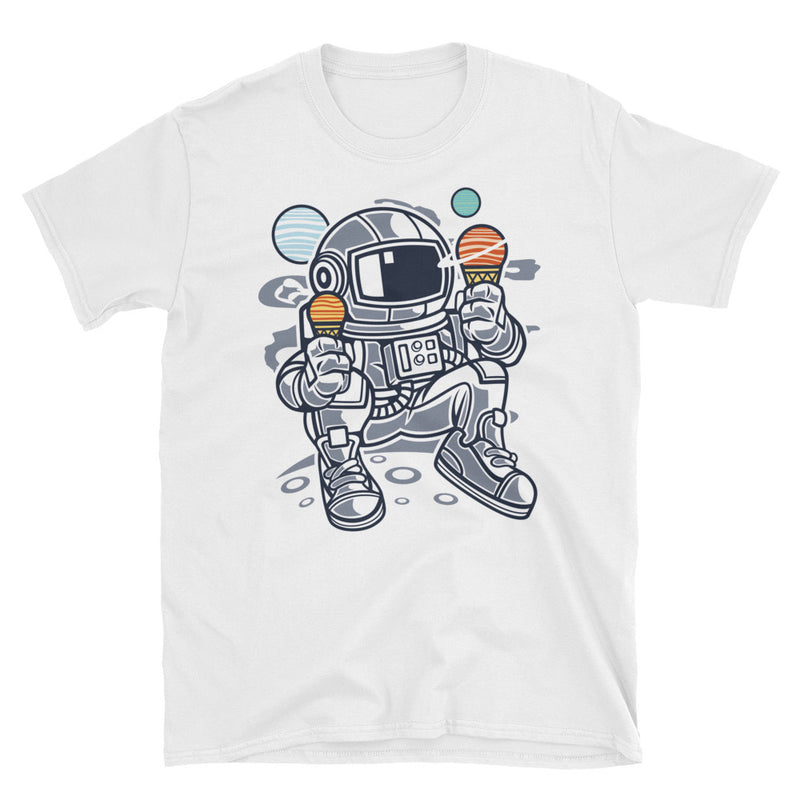 Astronaut Ice Cream Short-Sleeve Unisex T-Shirt - Dynamic Clothing Box