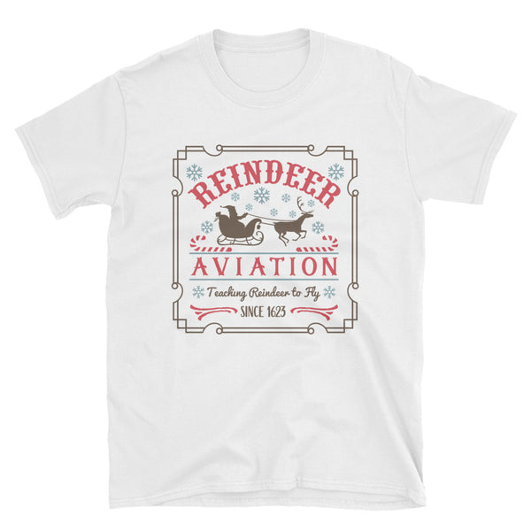 Reindeer Aviation Short-Sleeve Unisex T-Shirt - Dynamic Clothing Box