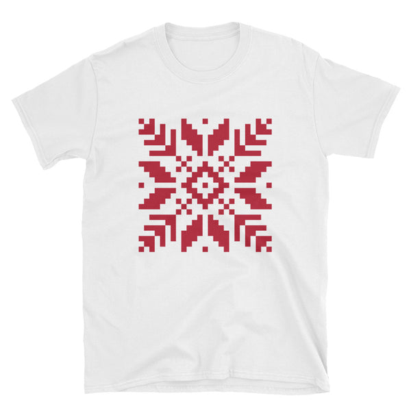 Pixel Snowflake Short-Sleeve Unisex T-Shirt - Dynamic Clothing Box
