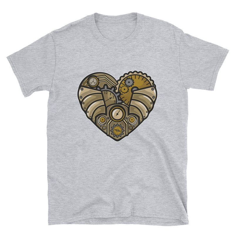 Steampunk Heart Short-Sleeve Unisex T-Shirt - Dynamic Clothing Box