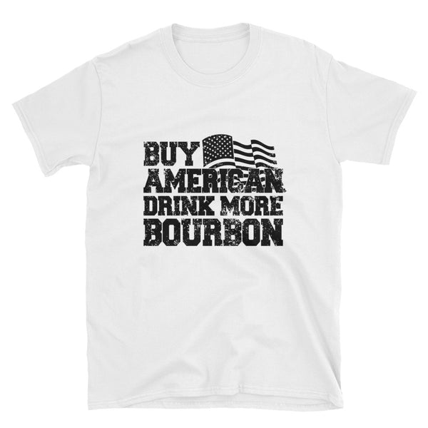 Buy American Bourbon (BLACK) Short-Sleeve Unisex T-Shirt - Dynamic Clothing Box