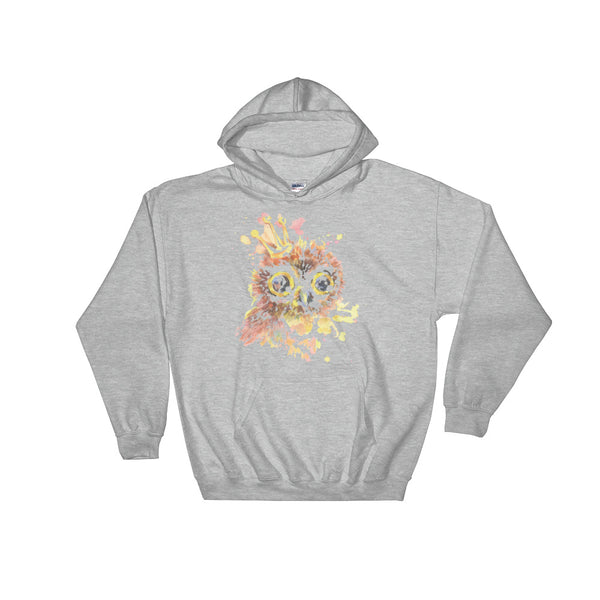Owl With Crown Unisex Hooded Sweatshirt - Dynamic Clothing Box