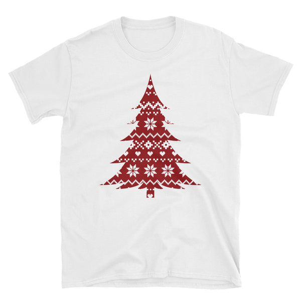 Sweater Print Tree Short-Sleeve Unisex T-Shirt - Dynamic Clothing Box