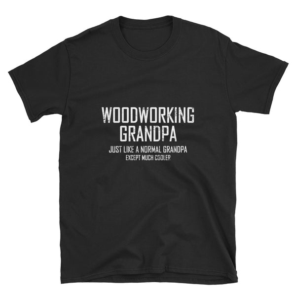 Woodworking Grandpa (WHITE) Short-Sleeve Unisex T-Shirt - Dynamic Clothing Box