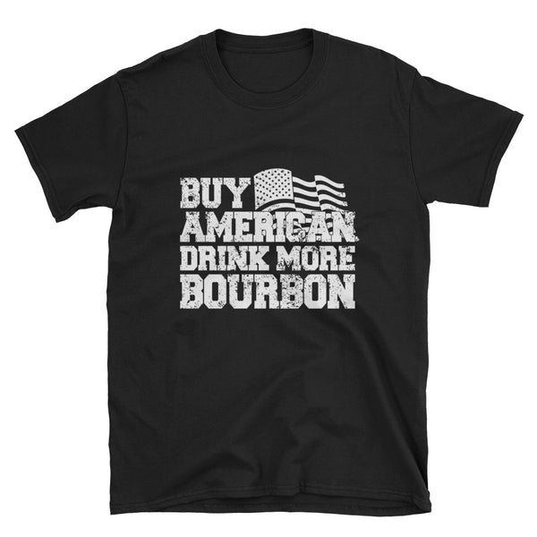 Buy American Bourbon (WHITE) Short-Sleeve Unisex T-Shirt - Dynamic Clothing Box