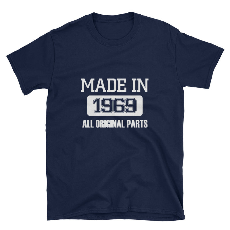 Made in 1969 (WHITE) Short-Sleeve Unisex T-Shirt - Dynamic Clothing Box