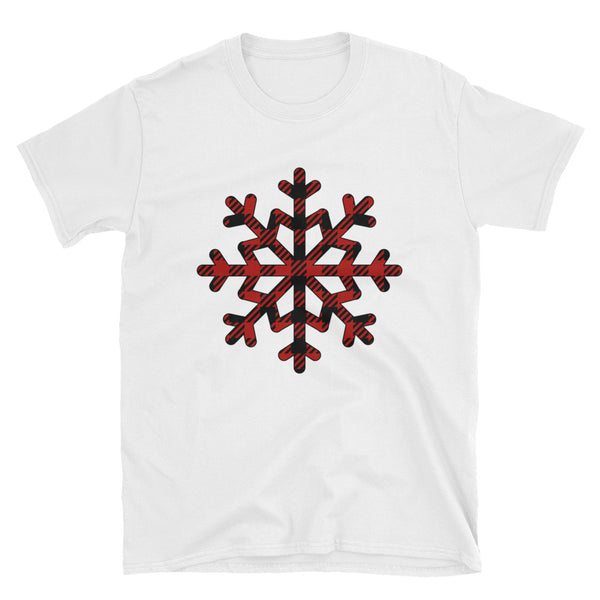 Plaid Snowflake Short-Sleeve Unisex T-Shirt - Dynamic Clothing Box