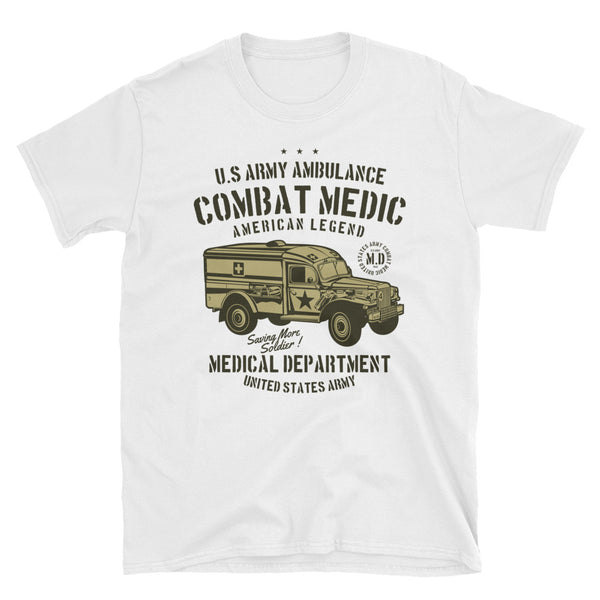 US Army Ambulance Short-Sleeve Unisex T-Shirt - Dynamic Clothing Box