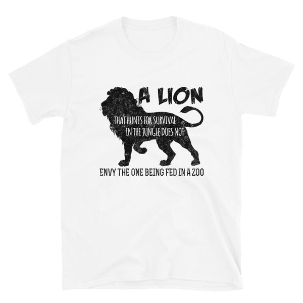 A Lion That Hunts For Survival In The Jungle Short-Sleeve Unisex T-Shirt