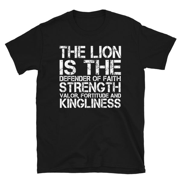 The Lion Is The Defender Of Short-Sleeve Unisex T-Shirt