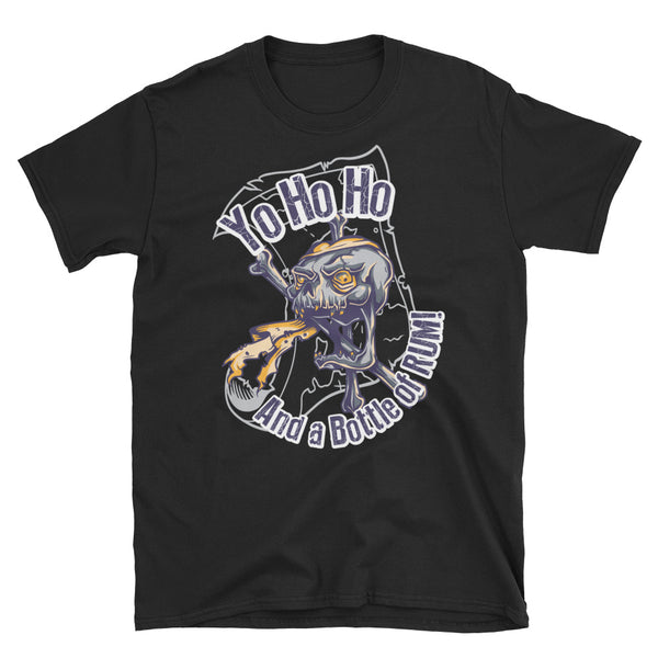 Yo Ho Ho And A Bottle Of Rum Short-Sleeve Unisex T-Shirt - Dynamic Clothing Box