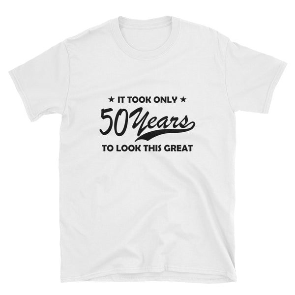 50 years (BLACK) Short-Sleeve Unisex T-Shirt - Dynamic Clothing Box