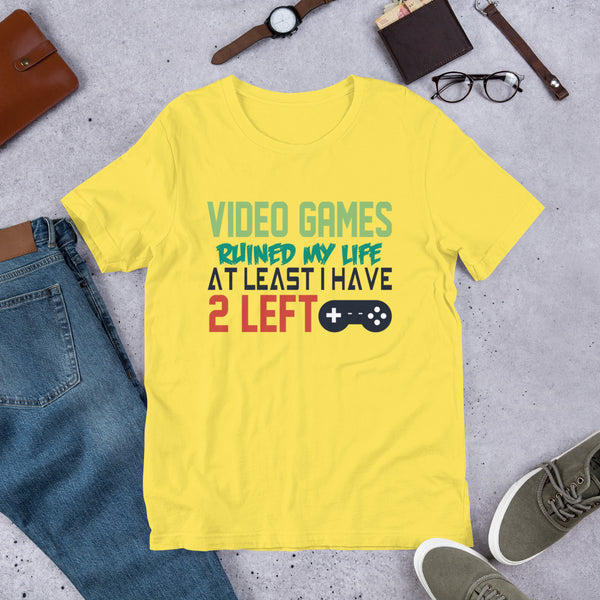 Video Games Ruined My Life At Least I Have 2 Left Premium Short-Sleeve Unisex T-Shirt