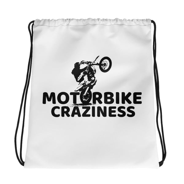 Motorbike Craziness Drawstring bag