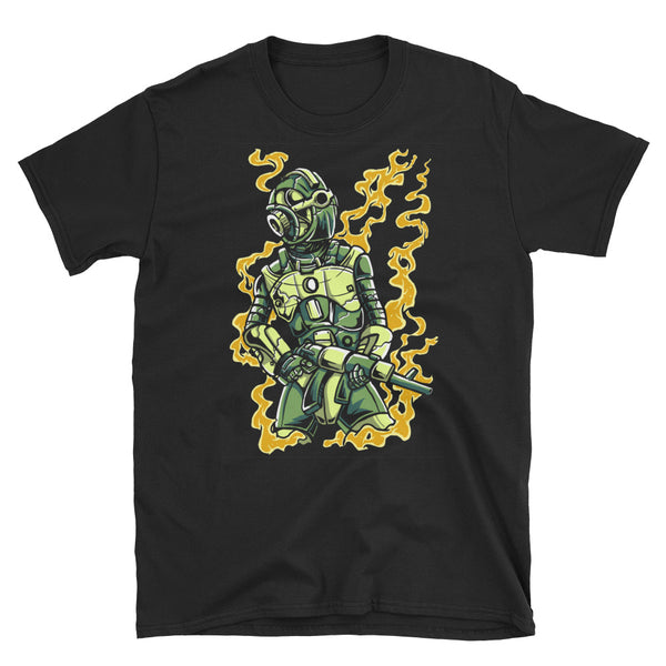 Robot Soldier Short-Sleeve Unisex T-Shirt - Dynamic Clothing Box