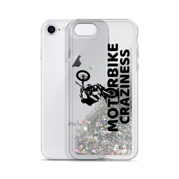 Motorbike Craziness Liquid Glitter Phone Case