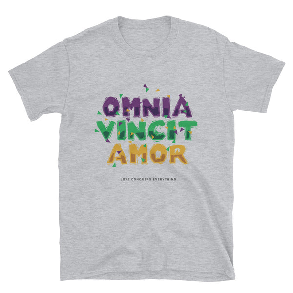 Omnia Vincit Amor Short-Sleeve Unisex T-Shirt - Dynamic Clothing Box