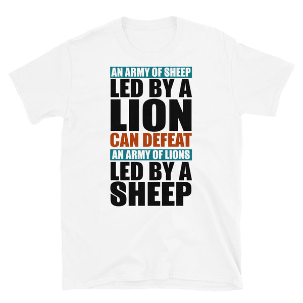 An Army Of Sheep Led By A Lion Short-Sleeve Unisex T-Shirt