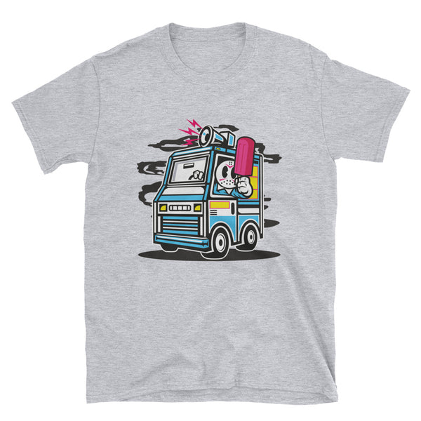 Ice Cream Truck Short-Sleeve Unisex T-Shirt - Dynamic Clothing Box