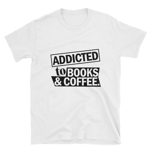 Addicted To Books And Coffee (BLACK) Short-Sleeve Unisex T-Shirt - Dynamic Clothing Box