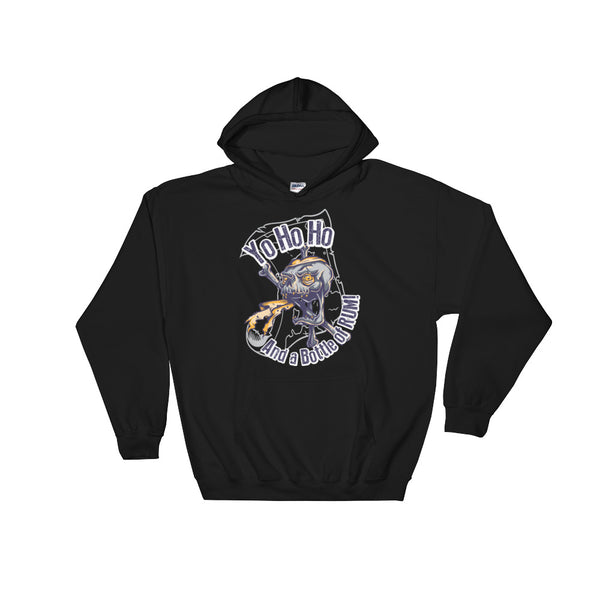 Yo Ho Ho And A Bottle Of Rum Unisex Hooded Sweatshirt - Dynamic Clothing Box