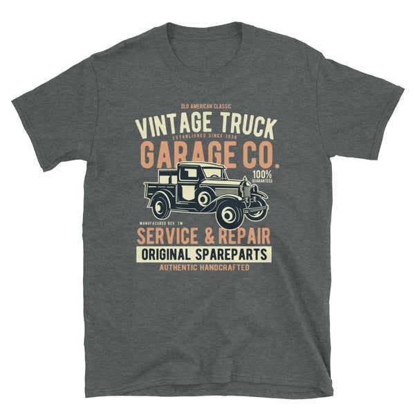 Vintage Truck Short-Sleeve Unisex T-Shirt - Dynamic Clothing Box