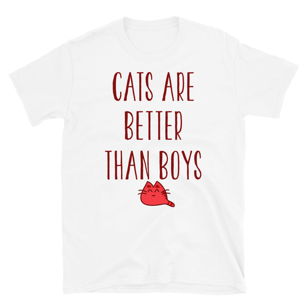 Cats Are Better Than Boys Short-Sleeve Unisex T-Shirt - Dynamic Clothing Box