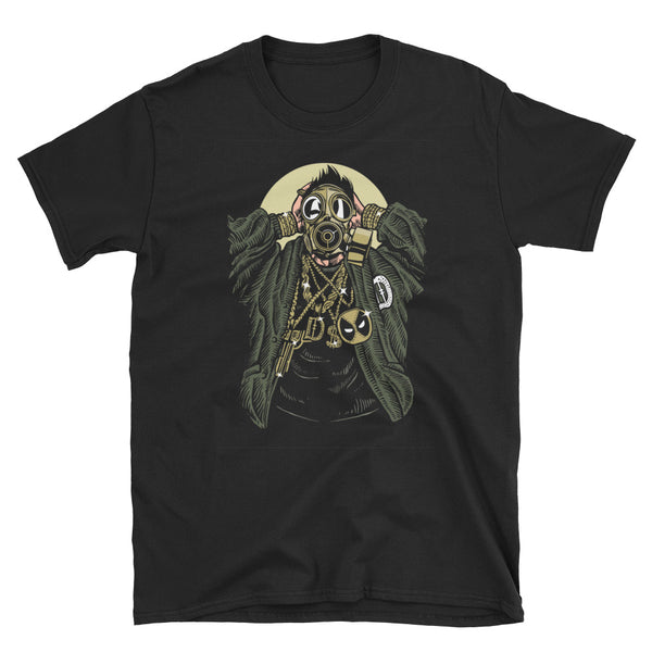 Gasmask Gangsta Short-Sleeve Unisex T-Shirt - Dynamic Clothing Box