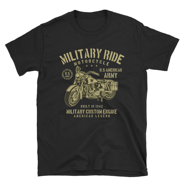 Military Ride Short-Sleeve Unisex T-Shirt - Dynamic Clothing Box