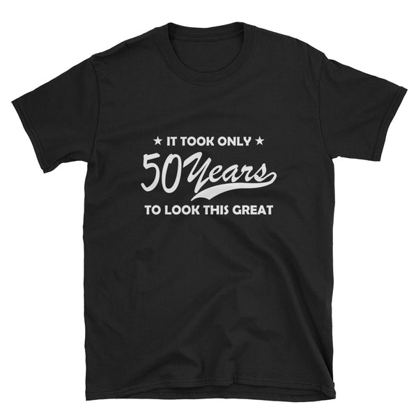 50 years (WHITE) Short-Sleeve Unisex T-Shirt - Dynamic Clothing Box