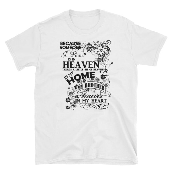 Brother Forever In My Heart (BLACK) Short-Sleeve Unisex T-Shirt - Dynamic Clothing Box