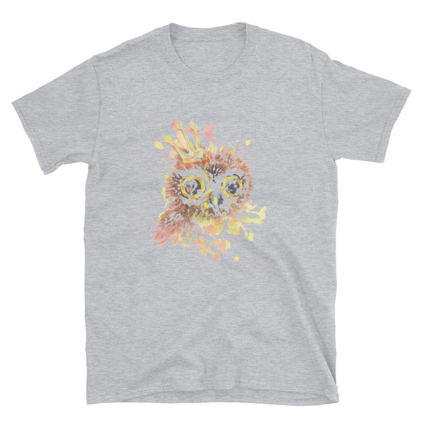 Owl With Crown Short-Sleeve Unisex T-Shirt - Dynamic Clothing Box
