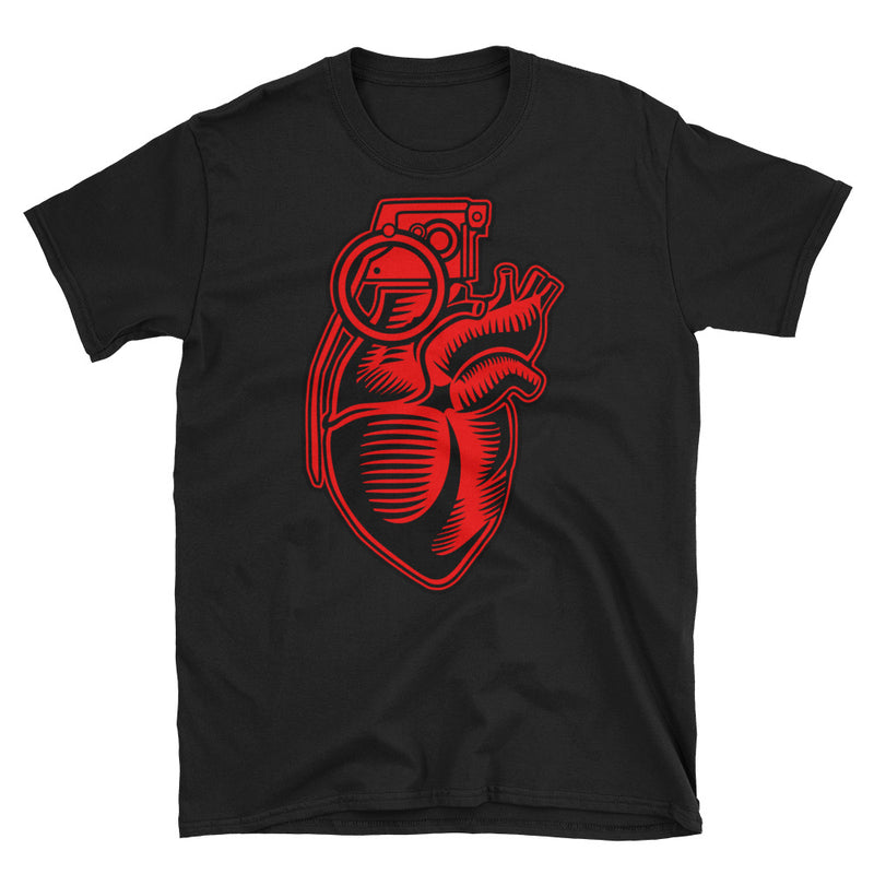 Grenade Heart Short-Sleeve Unisex T-Shirt - Dynamic Clothing Box