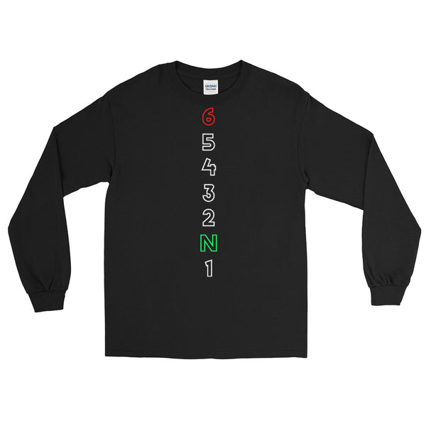 Motorcycle 1 Down 5 Up (FRONT PRINT) Long Sleeve Shirt