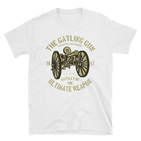 The Gatling Gun Short-Sleeve Unisex T-Shirt - Dynamic Clothing Box