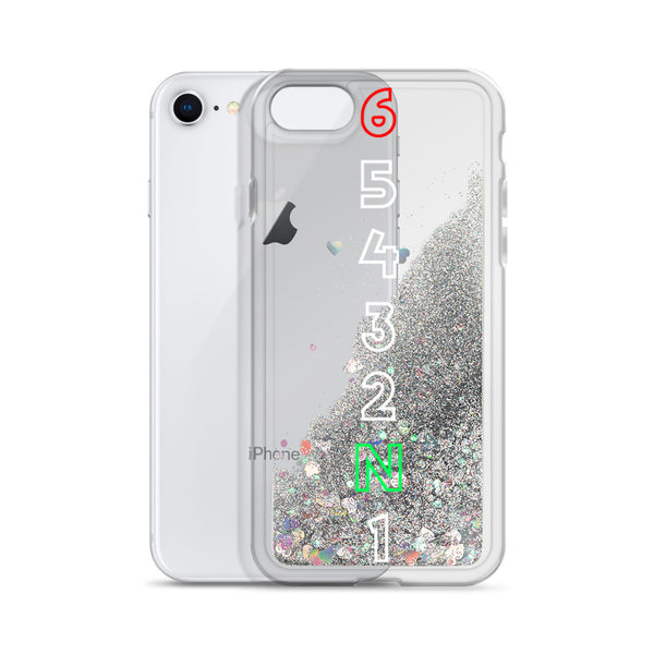 Motorcycle 1 Down 5 Up Liquid Glitter Phone Case