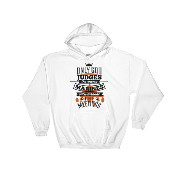 Only God Judges The Enemy Unisex Hooded Sweatshirt - Dynamic Clothing Box