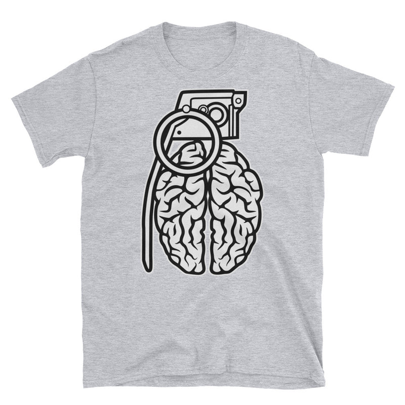 Grenade Brain Short-Sleeve Unisex T-Shirt - Dynamic Clothing Box