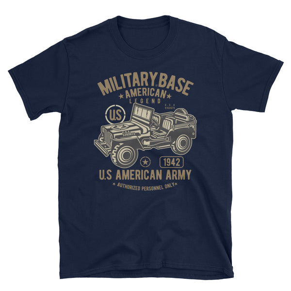 American Army Jeep Short-Sleeve Unisex T-Shirt - Dynamic Clothing Box