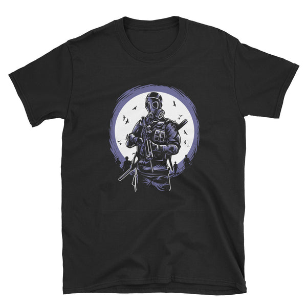 Gas Mask Soldier Short-Sleeve Unisex T-Shirt - Dynamic Clothing Box