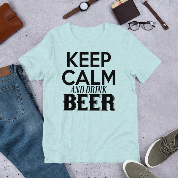 Keep Calm & Drink Beer Premium Short-Sleeve Unisex T-Shirt