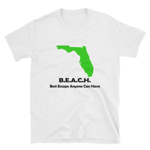 Best Escape Anyone Can Have - BEACH (BLACK) Short-Sleeve Unisex T-Shirt - Dynamic Clothing Box