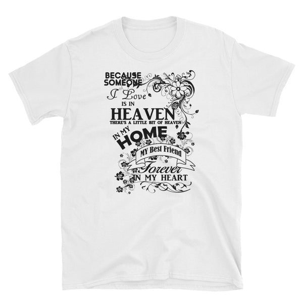 Best Friend Forever In My Heart (BLACK) Short-Sleeve Unisex T-Shirt - Dynamic Clothing Box